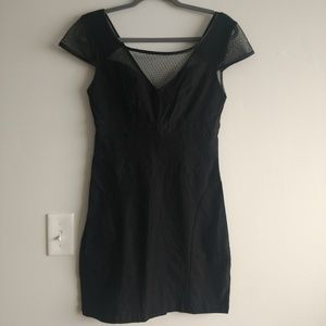 Black retro mini dress